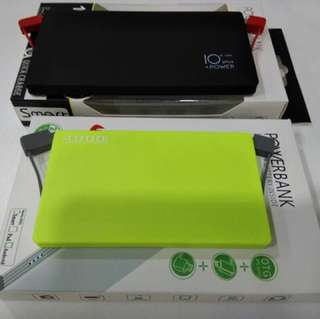 Built in cable power bank 10000mah