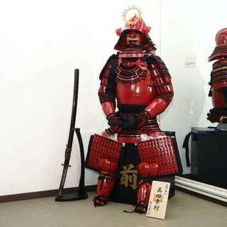 日本赤備武士甲冑