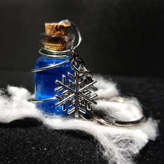 Blue Snowflake Potion Keychain - A01