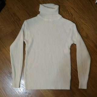 高領羅紋毛衣 #我的女裝可超取