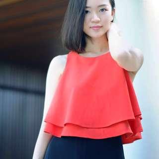 Baju Merah Batwing MDS