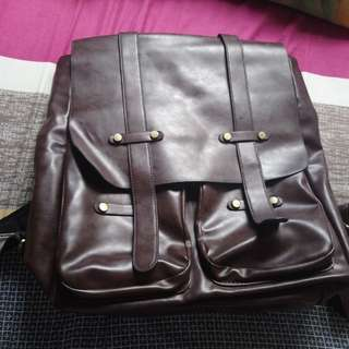 Korean, synthetic leather bag