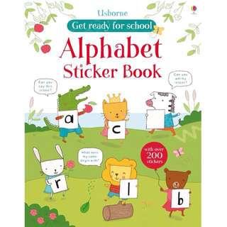 Alphabet Usborne Sticker Book