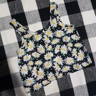 Cotton On Sleeveless Floral Daisy Top