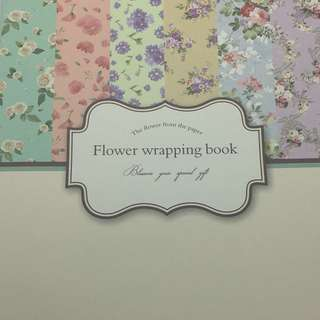 Wrapping Paper Book: Flower