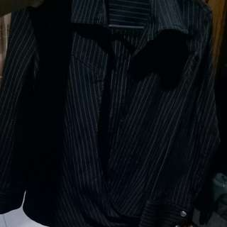 blazer stripe black