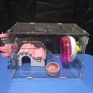 Instock New 30cm Acrylic Hamster Cage
