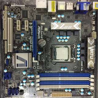 i5-2500 and Asrock Z68 Pro3-M matx Motherboard