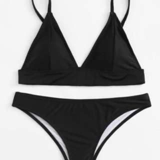 BRAND NEW Black Triangle Bikini Set