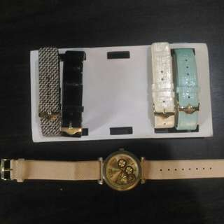 Aldo watch with 5 straps