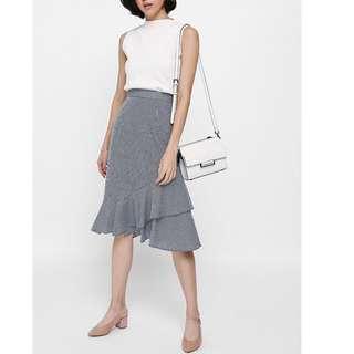 RTP$42.90 Love Bonito Yiara Gingham Asymmetrical Trumpet Skirt