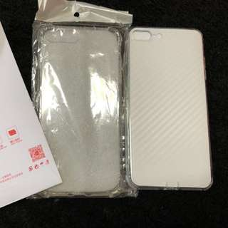 iPhone 7 Plus case transparent and screen protector