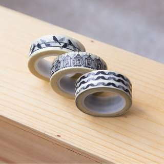 Washi tape - black and white pack