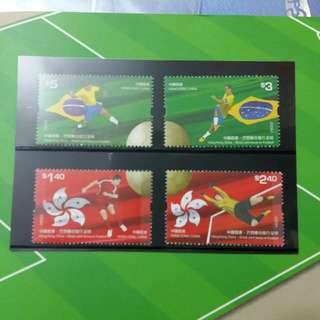 香港+巴西2009年足球纪念郵票