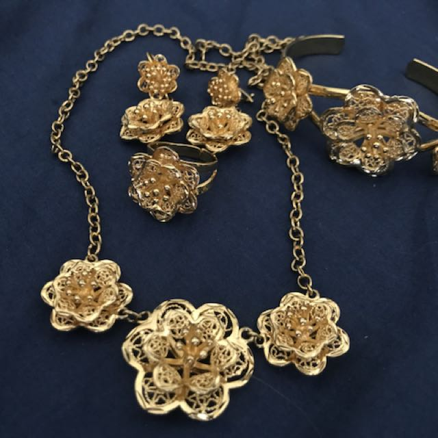 21k Gold plated jewellery set