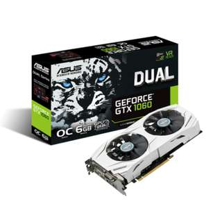 ASUS GTX 1060 6GB Dual OC Edition Graphics Card