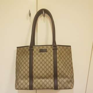Gucci 大手袋 奶粉袋 authentic classic GG print tote bag