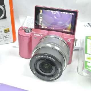 SONY A5000 3Lens 3鏡頭 無反相機 粉紅色機身 16-50mm 55-210mm kit set 套裝 日本微距廣角鏡 WiFi 98%新