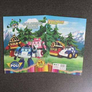 Robocar Poli Colouring Book With Stickers