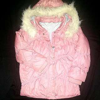 Soft Pink Winter Coat