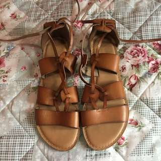 Old Navy Lace Up Flat Sandals