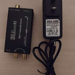 Digital to Analog Converter with L/R output cables