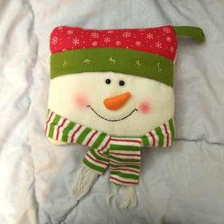 聖誕雪人小枕頭