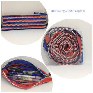 ZipPencil Case / Cosmetic pouch / Make up case