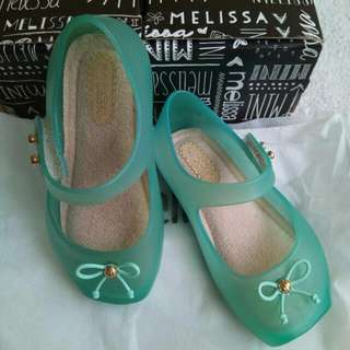 Mini Melissa Ballet Mint Green *clear*