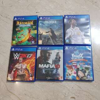 Multiple ps4 games for clearance