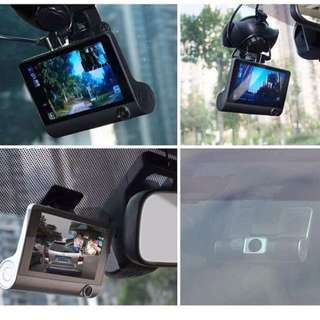 "Triple LENS ""3 Way Recording"" CAR DVR Cams Picture In Picture 4 Inch Display"