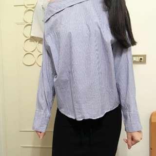 🚚 韓國製🇰🇷條文襯衫