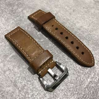 Leather Strap for Panerai (or any watch with 24mm Lug Size)