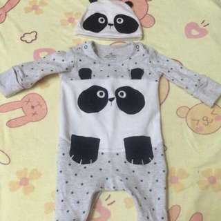 Next Baby UK frog Suit 0-3 Mos