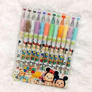 Tsum Tsum Gel Pens (12 colors)