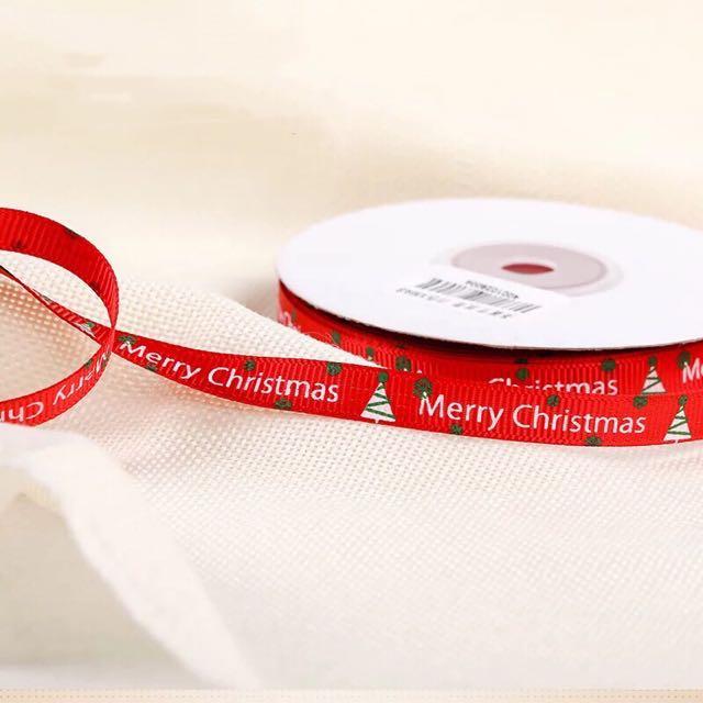 22m Christmas ribbons