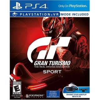 PS4 Game Gran Turismo Sport Standard Edition