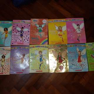 Rainbow fairies and Barbie books for little girls