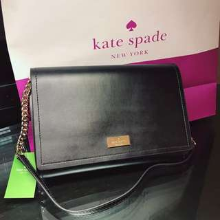 Kate Spade ♠️ black and pink clutch