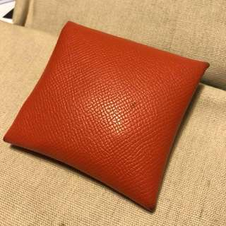 Used* Hermes vintage coin holder 散紙包 (Epsom) orange