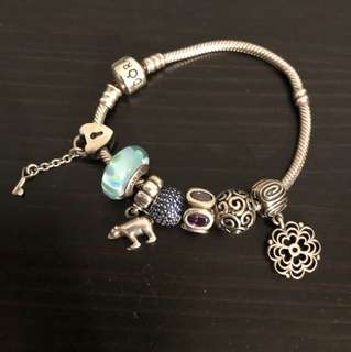 Pandora Bracelet with Charms (value $450)