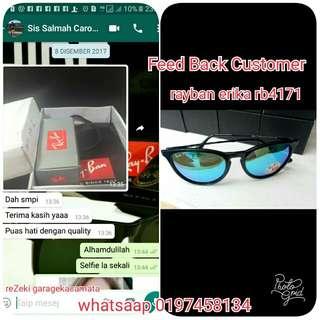 Feed Back Customer rayban erika rb4171