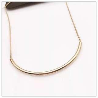🚚 韓版 銅質鎖骨彎月項鍊