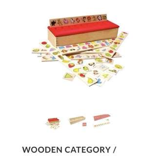Wooden Category / Classifications Box