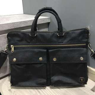 Porter International Briefcase Sling Bag (Black)
