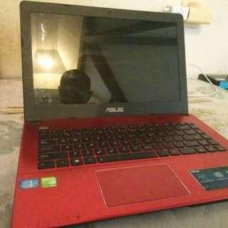 Laptop ASUS i3 NVidia x450c RED murahhhhhh