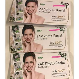 VOUCHER TREATMENT ZAP PHOTO FACIAL 3 in 1 TREATMENT (NORMAL PRICE = 800K)