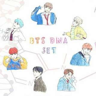 bts dna stickers - full set