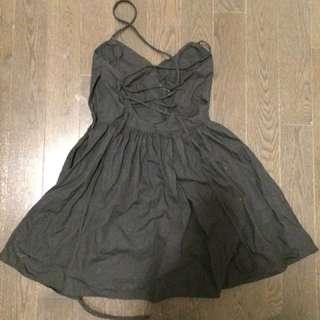 Black American Apparel Tie-Back Dress