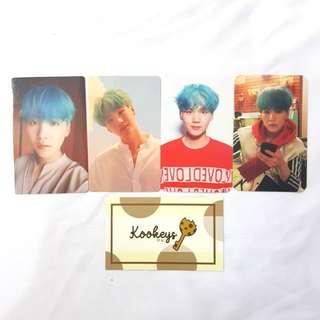 [LIMITED] BTS Suga Love Yourself Photocard L,O,V,E set